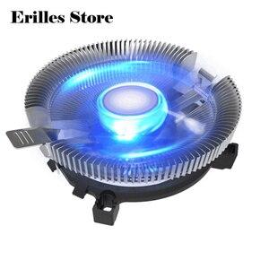 Радиатор кулер для процессора охлаждающий вентилятор для LGA 775 1150 1155 1156 AMD или 1366 2011 3 Pin Led Синяя лампа кулер для ЦП