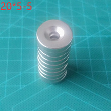 цена 10pcs Super Strong Round Neodymium Countersunk Ring Magnets 20mm X 5mm Hole: 5mm N35 Neodymium Magnet онлайн в 2017 году