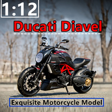 Maisto  1:12 Ducati the Great Devil original authorized simulation alloy motorcycle model toy car Collecting
