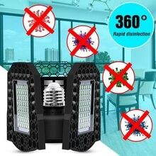 LED UV Germicidal Lamp E27 Disinfection Light 85-265V Indoor Ultraviolet Bulb 40W 60W 80W Ozone Lamp Sterilizer Home Lighting