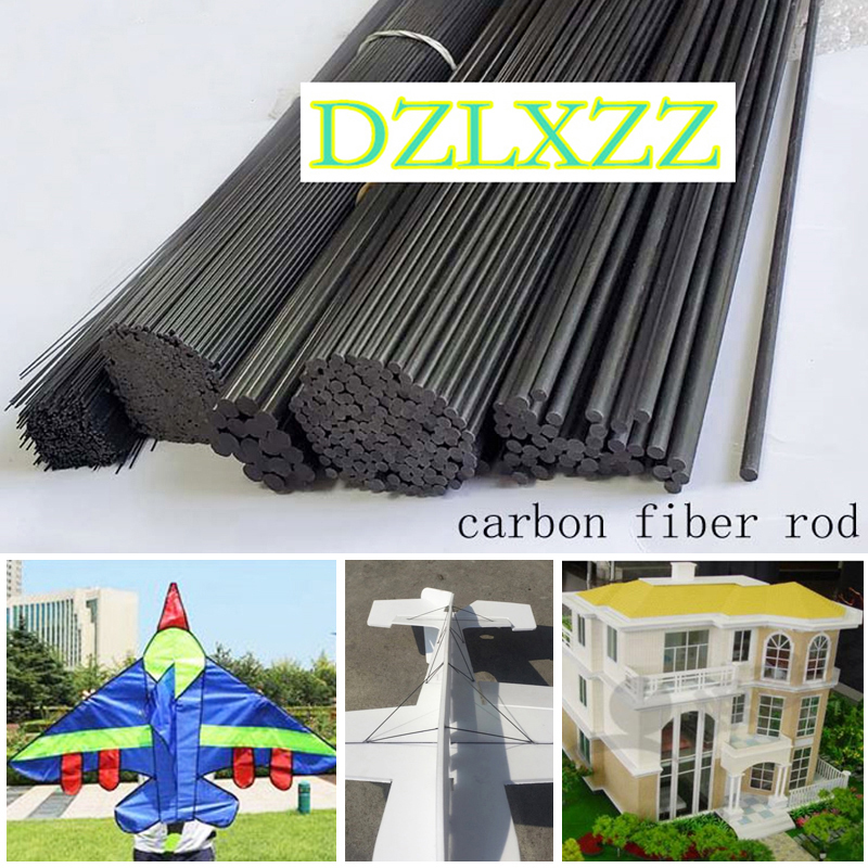 16Pcs/Set Carbon Fiber Rods 1mm 1.5mm 2mm 3mm 4MM 5MM 7MM for RC Plane DIY tool wing tube Quadcopter arm 0.5 meter Wholesale image