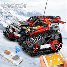 High-tech RC Car Building Blocks Technicque Tracked Race Stunt Car Bricks APP Raido Remote Control Truck Toys For Children Boy