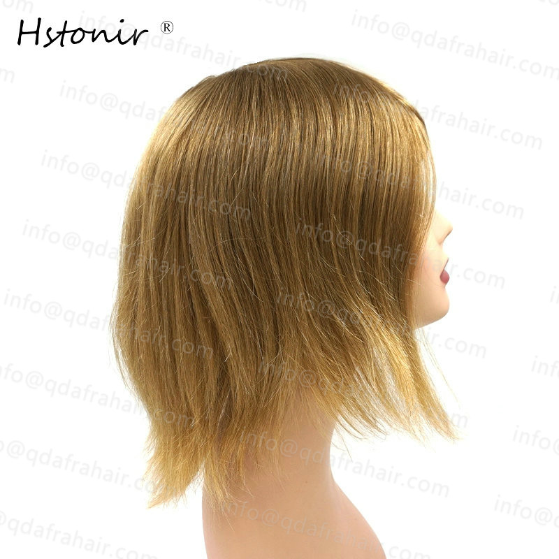 Hstonir Long Hair Natural Men And Women Wigs European Remy Hair Injection Thin Skin Toupee H076 - 4