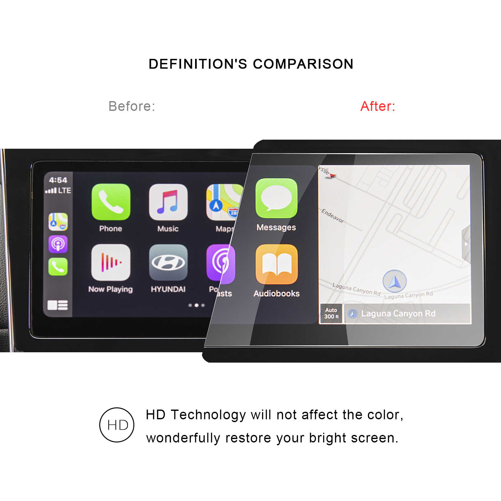 Экран RUIYA протектор для Tucson NX4 otali.ru 10 дюймов автомобильный навигационный дисплей экран авто Интерьер защита наклейки аксессуары