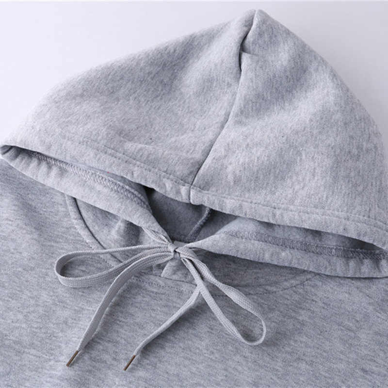FOJAGANTO moda marka erkekler düz Hoodie erkek rahat vahşi kapşonlu Sweatshirt erkek basit ince Hoodies Sweatshirts Tops