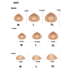 Image 5 - 1 Pair Strap Sponge Breast Forms Drag Queen Fake Boobs Enhancer Bra Padding Inserts For Swimsuits Crossdresser Cosplay Shemale
