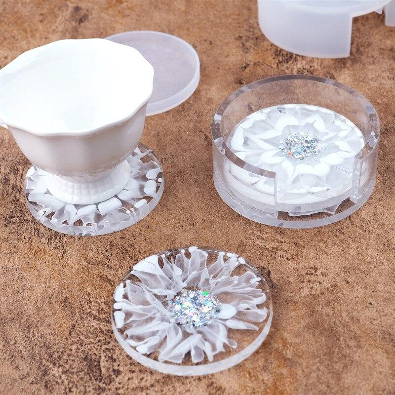 «Сделай сам» с украшением в виде кристаллов эпоксидная смола, форма круглый прямоугольник квадратная Подставка под стакан чашка коврик для...