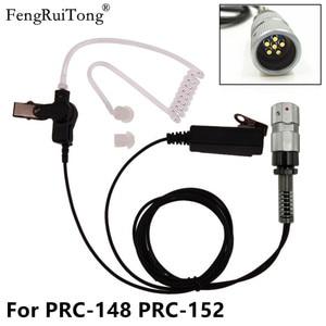 Image 1 - PRC148 152 Walkie Talkieชุดหูฟังยุทธวิธี,cuboidไมโครโฟนPTT Air TubeหูฟังสำหรับTRI TCA/PRC 148 PRC 152 Walkie Talki
