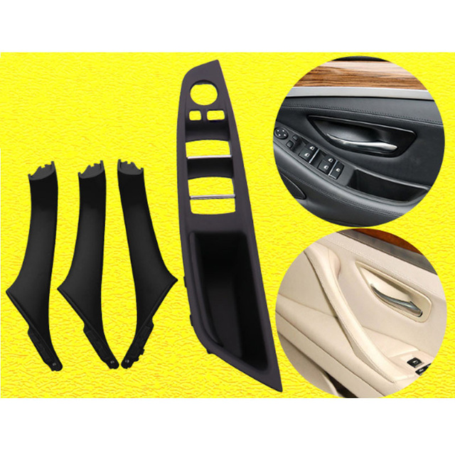 اليد اليمنى محرك RHD لسيارات BMW 5 serie F10 F11 520 525 رمادي بيج أسود سيارة الداخلية مقبض الباب لوحة الباب الداخلي سحب غطاء الكسوة