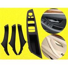 Unidade de mão direita rhd para bmw 5 série f10 f11 520 525 cinza bege preto porta do carro interior tampa da guarnição do painel da porta