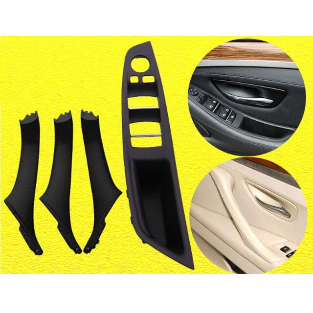 右手ドライブ rhd bmw 5 セリエ F10 F11 520 525 グレーベージュ黒カーインテリアドアハンドルインナードアパネルプルトリムカバー