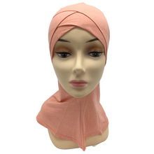 Vendita al dettaglio di due strati Doppio crossover musulmano Cotone ninja underscarf