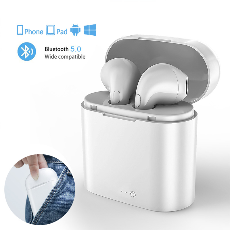 I7s TWS Wireless Earpiece Bluetooth Earphones I7 Sport Earbuds Headset With Mic For Smart Phone IPhone Xiaomi Samsung Huawei LG