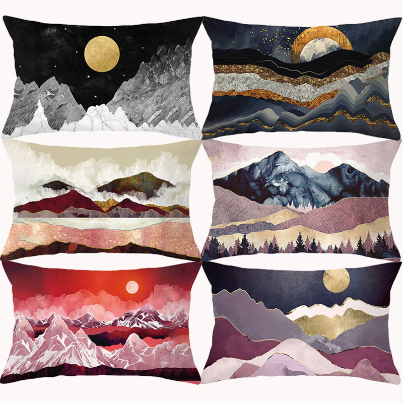 Japanese Style Sun Pillow Cover 30x50 Cushion Cover Decorative Sofa Cushions Home Decor  Pillowcase Throw Pillows