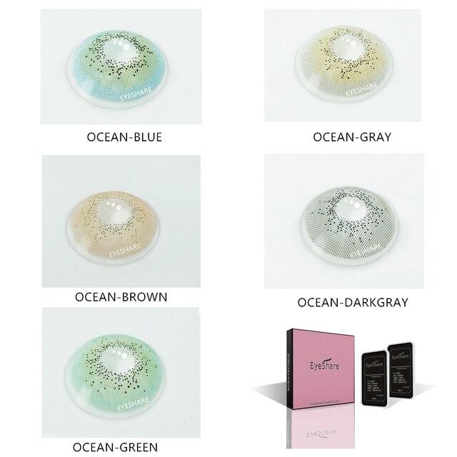 EYESHARE- 1 Pair Bitas Ocean Color Beautiful Pupil Contact Lenses Cosmetic Contact Lens Eye Lenses(2pcs) 2
