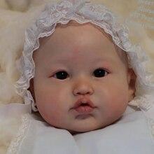 Npk 22 polegada kit boneca renascer lea inacabado peças de boneca diy brinquedo em branco kit cor fresca toque macio