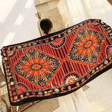 beach travel scarf shawl women Tassel Printing Large Flower luxury Shawl Scarf Seaside Holiday Sunscreen wrap large size