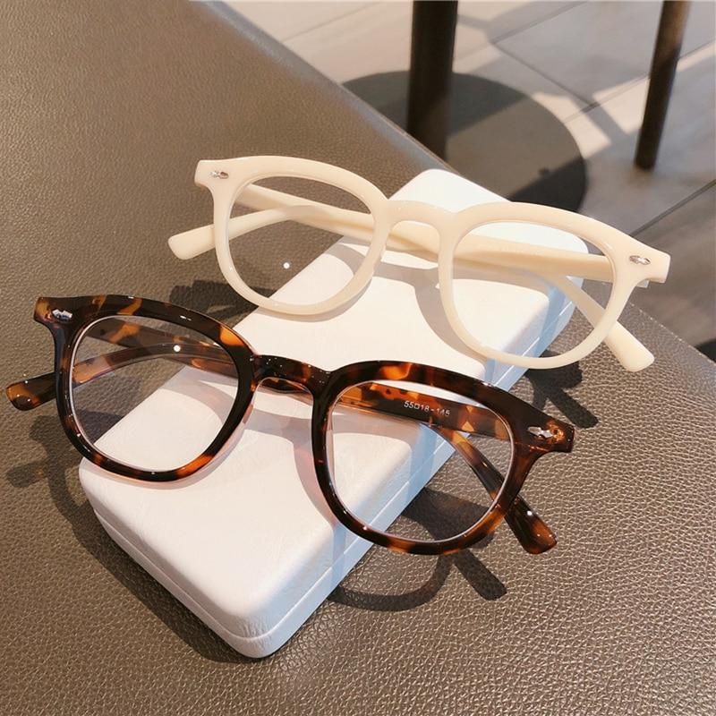 SO & EI moda kare kadın optik gözlük çerçevesi temizle Anti-blu-ray gözlük Vintage tırnak gözlük çerçevesi erkekler bilgisayar gözlükleri