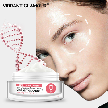 VIBRANT GLAMOUR Serum Protein Eye Cream Anti-Aging Wrinkle Remover Dark Circles Bags Firming Anti Puffiness Skin Care