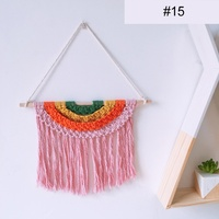 16 Colors Bohemian Style Hand woven Rainbow Tapestry Wall Hanging Decoration Kids Children Room Hanging Decorations