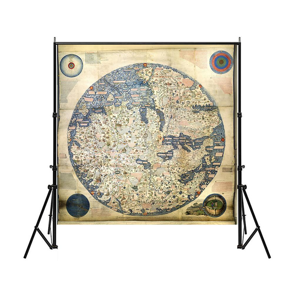 Medieval Asia And Europe Map 150x150cm Vintage Non-woven Waterproof Decorative Map