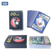 60 pçs/caixa pokemon cartões tag equipe ex tcg: sun & moon pokemon booster caixa de cartão de negociação jogo de cartão anime brinquedo para crianças