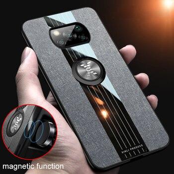 POCO X3 Case for Xiaomi POCO X3 NFC Mi 10 Ultra 9 10T Lite 9T Pro Redmi Note 9S 9 8 8T 7 10 K20 Pro Case Car Magnetic Ring Cover