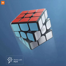 أحدث ألعاب شاومي الأصلية بلوتوث المكعب السحري الذكية بوابة الربط 3x3x3 مربع المغناطيسي مكعب لغز العلوم التعليم لعبة هدية
