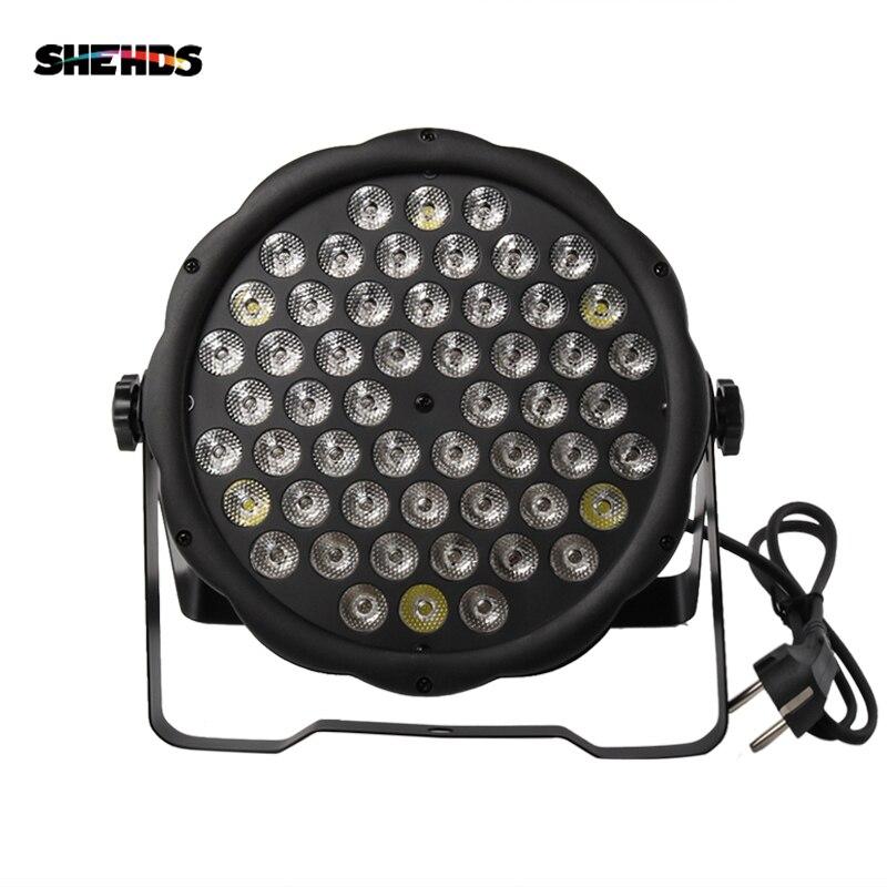 ขายร้อน LED FLAT PAR 54x3W LED PAR Light Strobe DMX Controller ดีเจดิสโก้บาร์ strobe Dimming Effect โปรเจคเตอร์