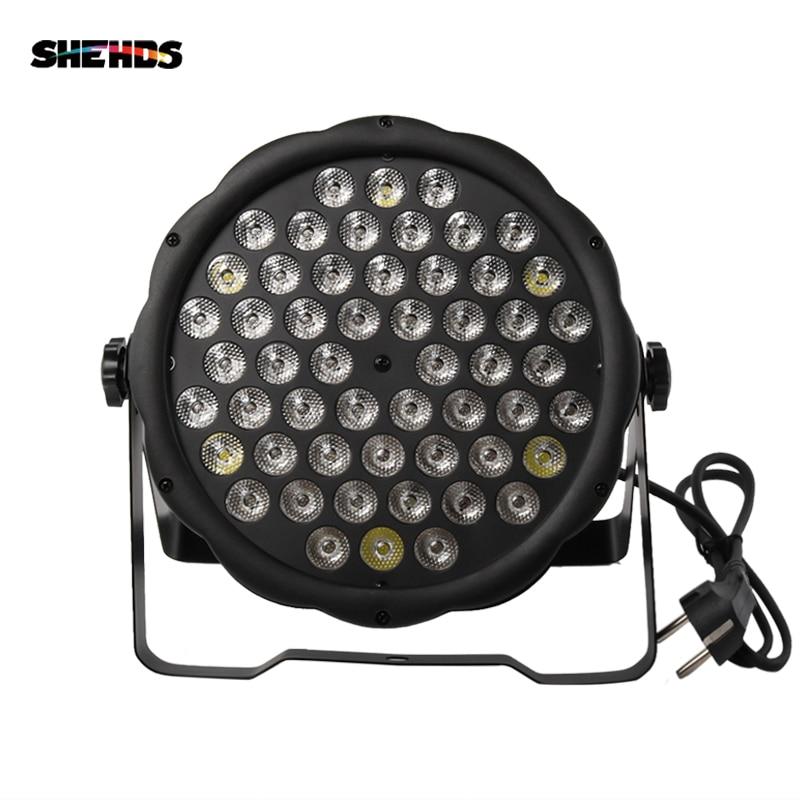 Gran oferta LED Par plano 54x3W iluminación luz Par LED estroboscópico DMX controlador fiesta Dj Disco barra estroboscópica atenuación efecto proyector