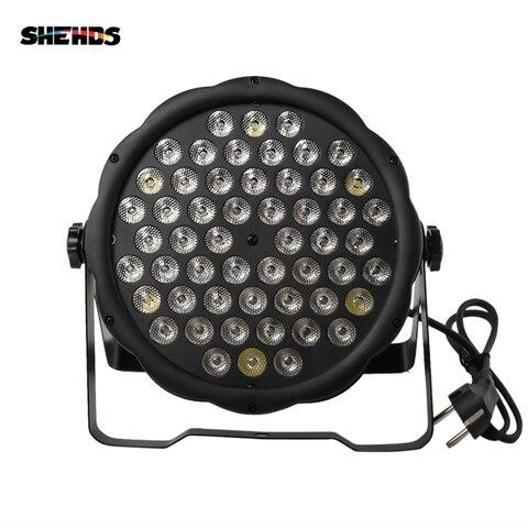hot vendas 54x3w iluminacao led par plana led par luz estroboscopica dmx controlador dj festa
