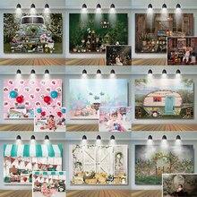 خلفية تصوير الكيك سماش للأطفال ، خلفية للتصوير الفوتوغرافي في الغابة الخيالية ، عيد الميلاد الأول ، استوديو الصور ، متجر الآيس كريم ، خلفية للفتيات