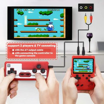 Video Game Consoles Handheld Game Player  Portable 3 Inch 400 Retro Games In 1 Classic 8 Bit LCD Color Screen for Boys Gifts 2