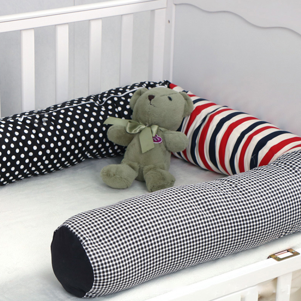 2m Newborn Pillow Baby Bed Cartoon Bumpers Crib Stuffed Toys Room Decor Baby Toddler Wrestling Prevention Protection Fence