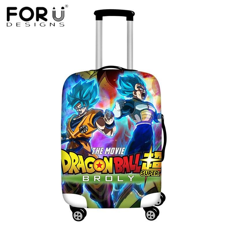 FORUDESIGNS/Дорожный эластичный Чехол для багажа Saiyan Goku Vegeta, защитный чехол для чемодана 18-32 дюймов - Цвет: HMA149