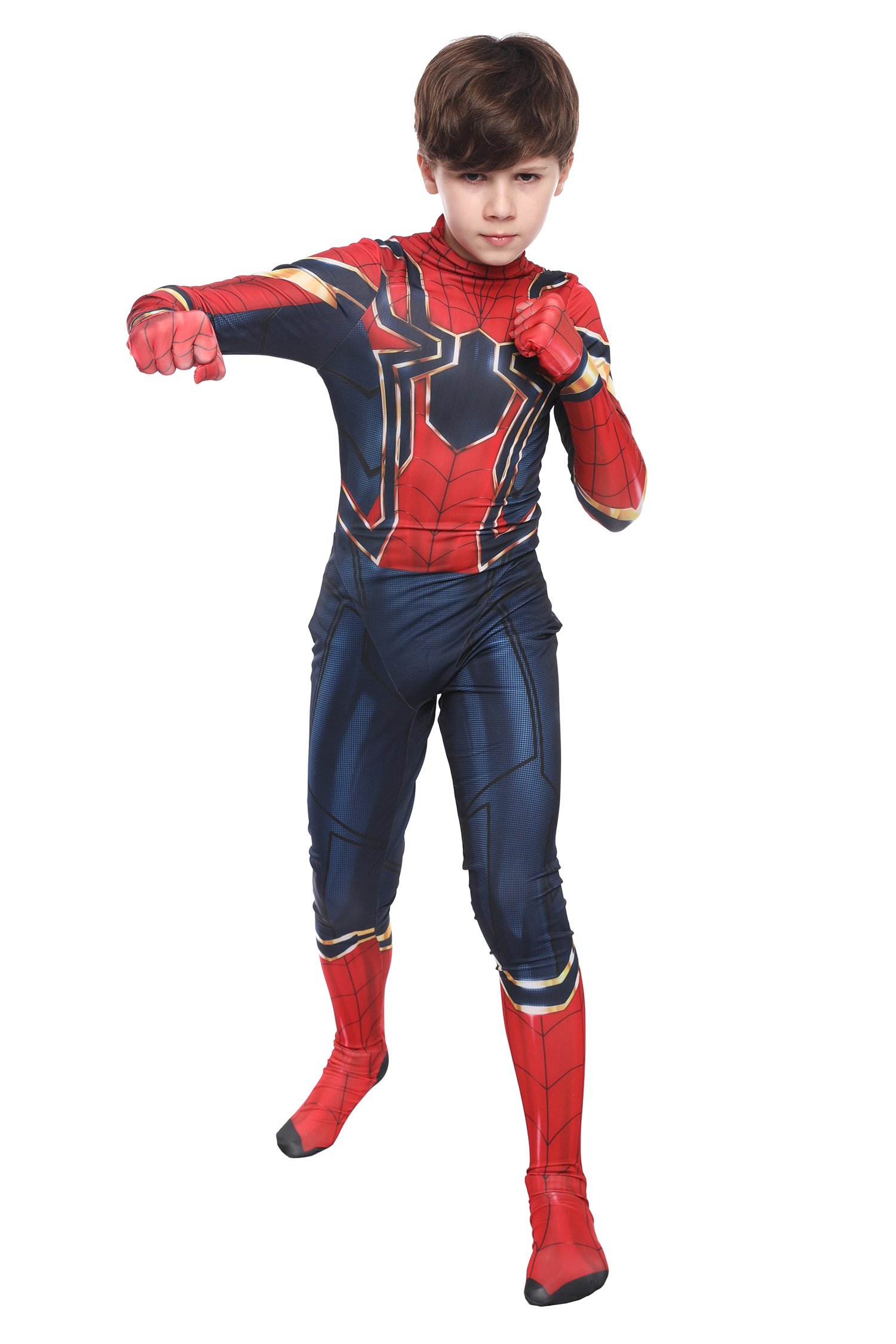 Halloween costume child boys Kids Spider man Deluxe fancy cosplay us party new