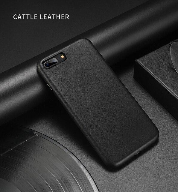 آيفون 7 7 Plus حافظة جلد الماشية 100% الأصلي Duzhi العلامة التجارية حافظة جلدية حقيقية للآيفون 7 8 حافظة جلدية مضادة للصدمات