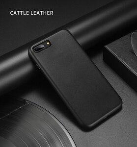 Image 1 - Dla iphone 7 7 Plus skórzane etui z bydła 100% oryginalne etui z prawdziwej skóry Duzhi dla iphone 7 8 odporne na wstrząsy skórzane etui