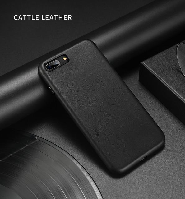 Dla iphone 7 7 Plus skórzane etui z bydła 100% oryginalne etui z prawdziwej skóry Duzhi dla iphone 7 8 odporne na wstrząsy skórzane etui