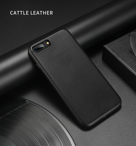 Image 1 - For iphone 7 7 Plus Cattle Leather Case 100% Original Duzhi Brand Genuine Leather Case For iphone 7  8 Shockproof Leather Case