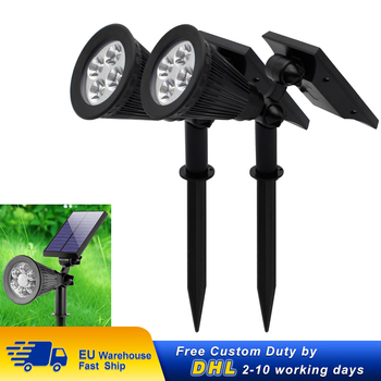 2/4/6/8 Pcs Solar Lawn Yard LED Light Outdoor Garden Path Street Lamp Landscape Ground Wall Spotlight Warm White