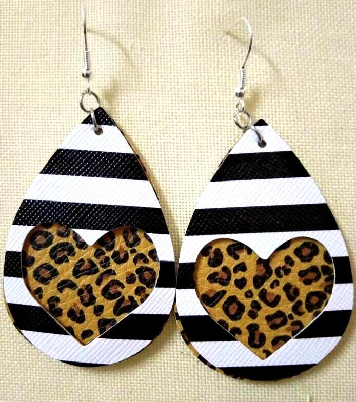 Pu Leather Earrings  Halloween Christmas Jewelry Earrings Handmade Earrings