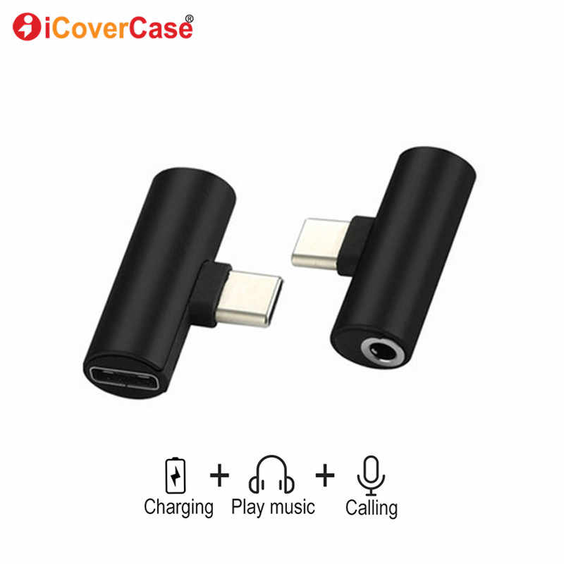 USB Type C to 3.5mm Jack Headphone Adapter AUX Audio Charger Converter For Samsung Galaxy A60 A80 A90 5G A8s M40 Meizu 16s pro