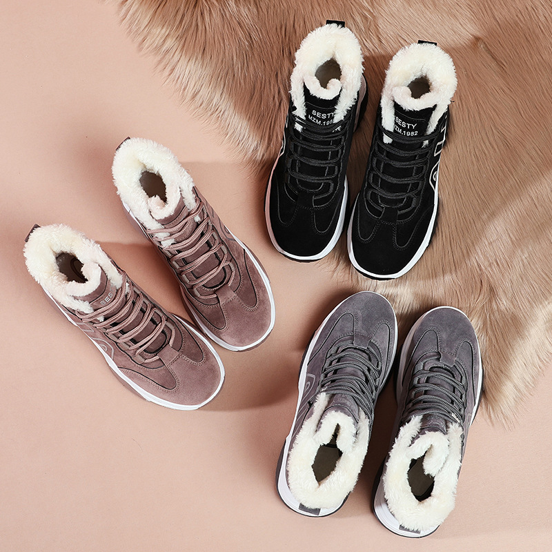 2019 Genuine Leather Women sneakers Platform Daddy Sneakers Horsehair Shoes Casual Boots Breathable Mesh Woman Chunky Shoes 43