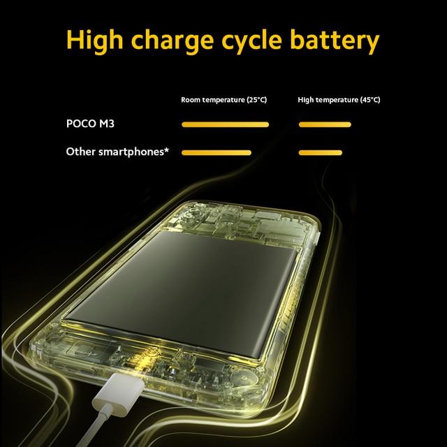 "Versão global POCO M3 4GB 64GB / 128GB Smartphone snapdragon 662 octa núcleo 48mp triplo câmera 6.53"" FHD+ DotDisplay 6000mah bateria 5"