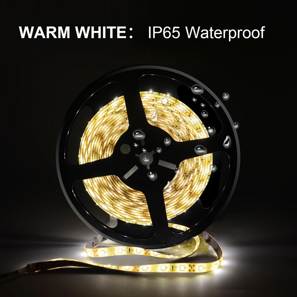 YOLUXZM LED Strip Light 12V 24V SMD 2835 Warm White 300leds Waterproof Flexible LED light Tape Ribbon flexible lights