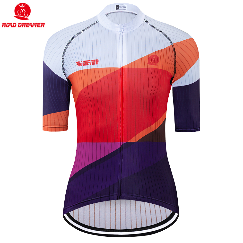 Bike Jersey Short-Sleeve Triathlon Maillot-Ciclismo Women New Mtb Lycra Summer Red Breathable