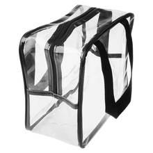 Прозрачная переносная сумка тоут из ПВХ для спортзала/косметики