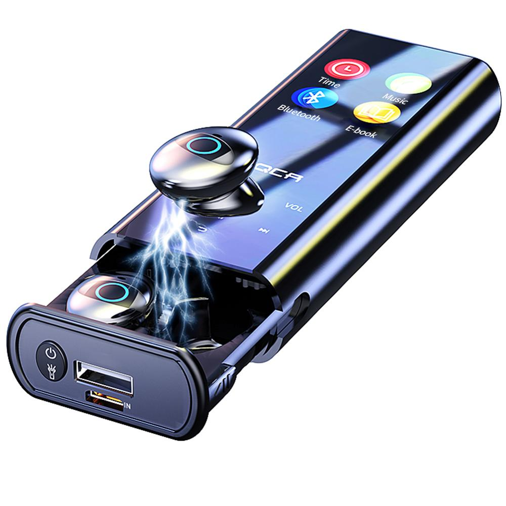 Q1 TWS MP3 Player Wireless Bluetooth Earphone Multi-function Earbuds IPX7 Waterproof 9D TWS Earphone 6000mAh Power Bank