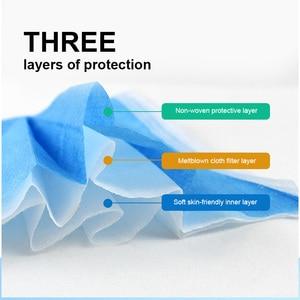 Image 2 - Masques jetables masque Non tissé à 3 couches masque Anti poussière masque de Protection respiratoire masque de Protection doux 10/50/100/200/500 pièces